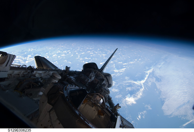 View of Atlantis' Payload Bay taken during the STS-129 Mission