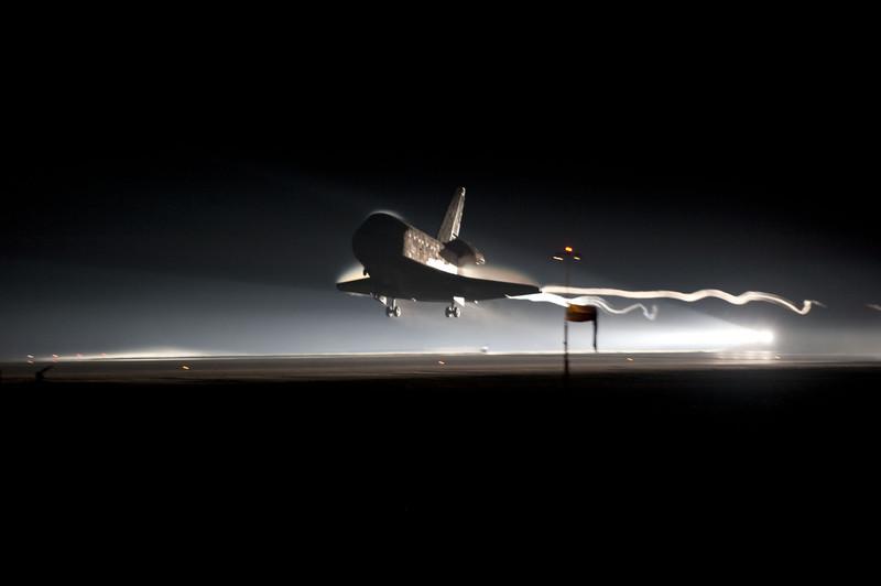 The Final Landing of STS-135 Atlantis